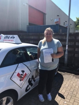 Congratulations Leah on your first time pass in cardiff today - enjoy driving the bumble bee 🐝 x...