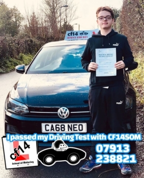 *** Many Congratulations Sam, Simply Glad Lubos And cf14 School Of Motoring Could Help You Out Today.